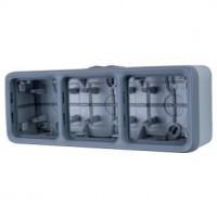 Boîtier 3 postes horizontaux Plexo composable IP 55